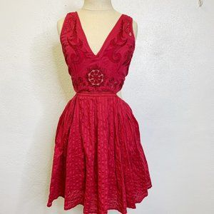 Free People Lace Cut Out Design Summer Dress M